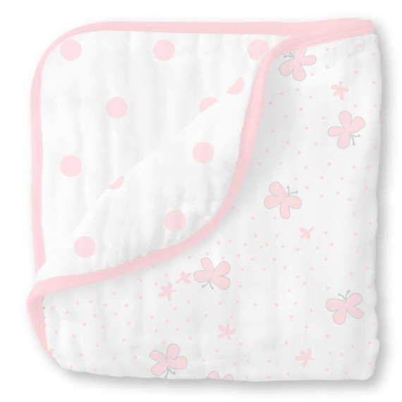 Одеяло муслиновое SwaddleDesigns Luxe Muslin Little Ships Pink