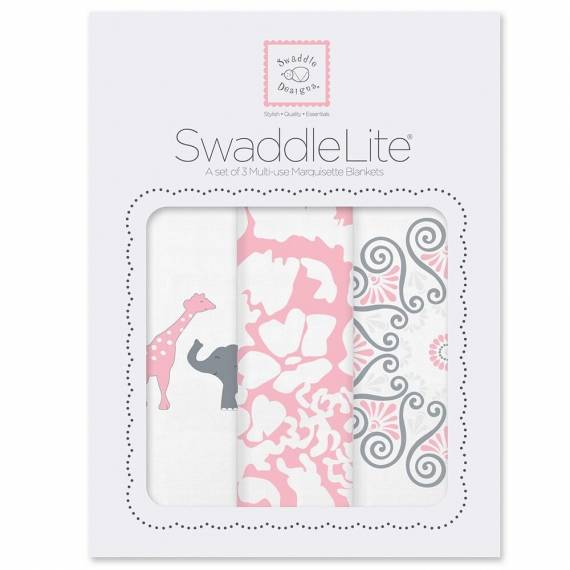 Набор пеленок SwaddleDesigns SwaddleLite SC Elephant/Chickies Rose