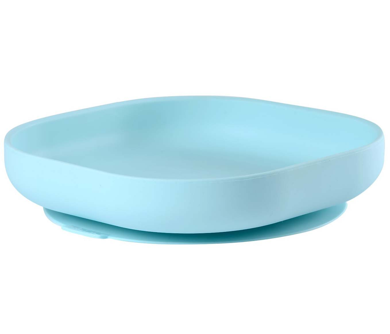 Beaba Тарелка из силикона Silicone Suction Plate Blue