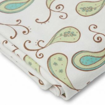 купить Простынь детская SwaddleDesigns Fitted Crib Sheet Kiwi Paisley