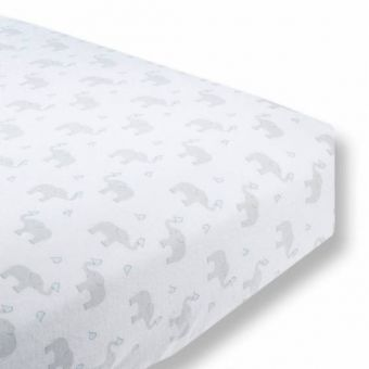 купить Простынь детская SwaddleDesigns Fitted Crib Sheet PB Elephant & Chickie