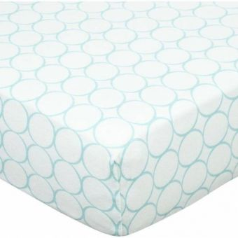 Детская простынь Fitted Crib Sheet Turquoise Stripe