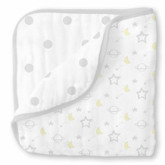 купить Одеяло муслиновое SwaddleDesigns Luxe Muslin Little Ships Sterling