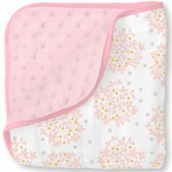 купить Одеяло муслин/флис SwaddleDesigns Snuggle Blanket Heavenly Floral Shimmer
